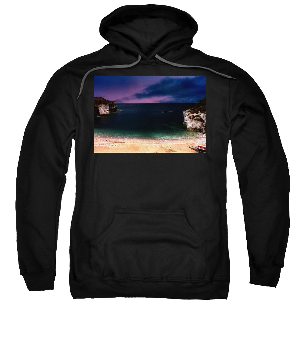 Sunset Sweatshirt featuring the photograph Evening On The Headland by Cliff Norton