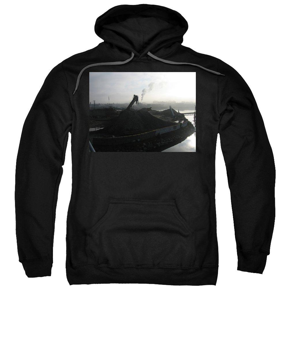 Photograph Ship Yard Ocean Water Victoria Sweatshirt featuring the photograph Shipyard by Seon-Jeong Kim