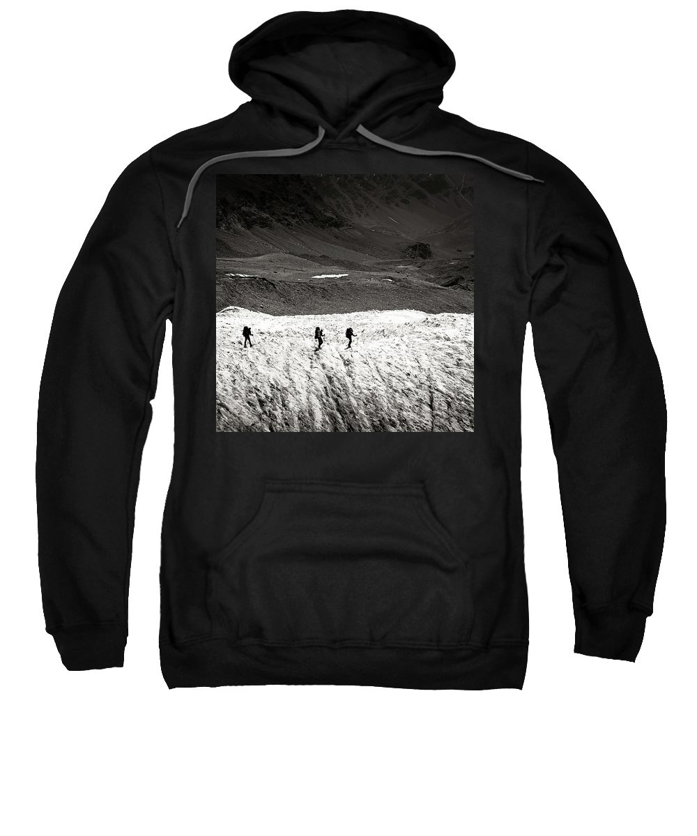 Active Sweatshirt featuring the photograph They Are Going ... by Konstantin Dikovsky