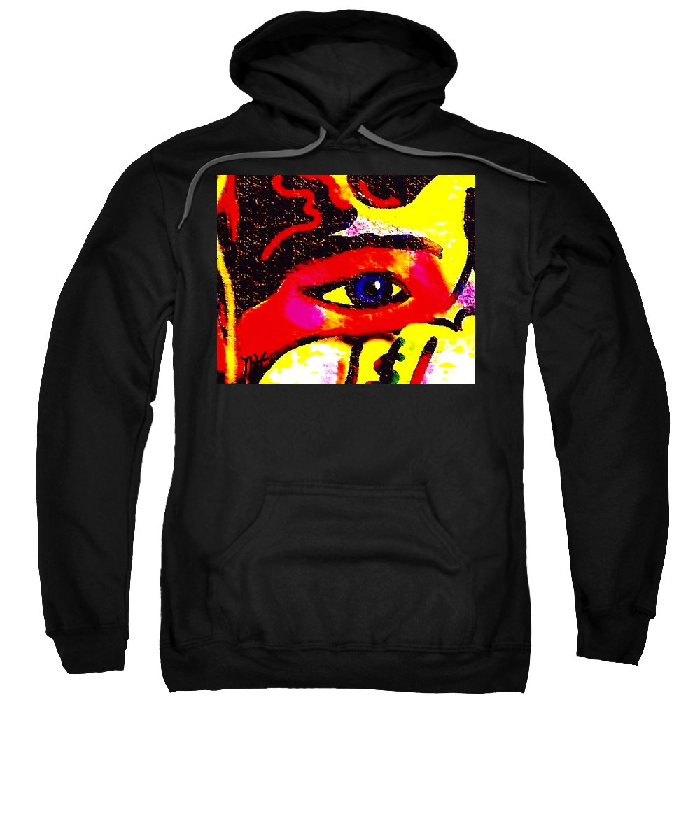 Abstract Sweatshirt featuring the painting Window To The Soul by Natalie Holland