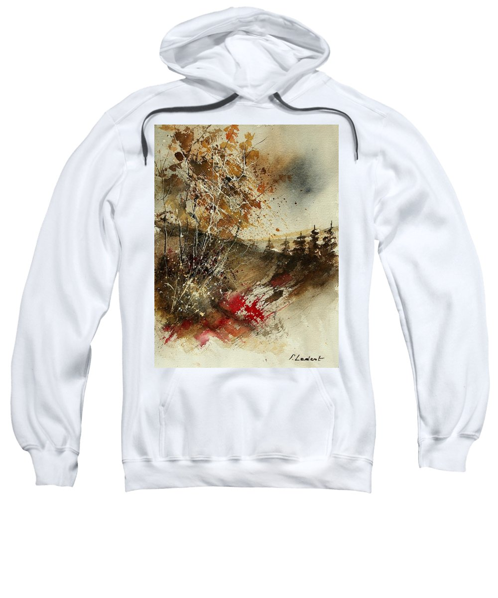 Tree Sweatshirt featuring the painting Watercolor 903052 by Pol Ledent