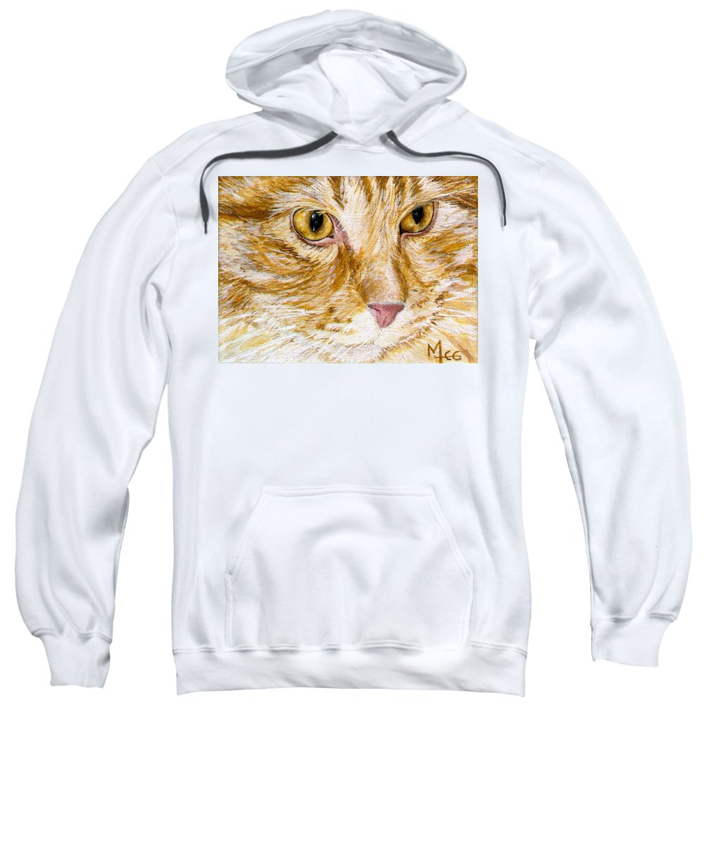 Charity Sweatshirt featuring the painting Leo by Mary-Lee Sanders