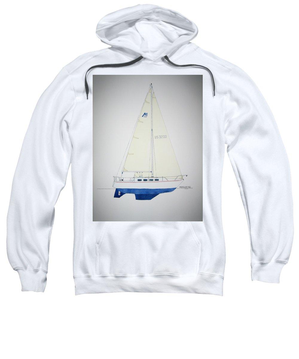 Sail Sailboat Ocean Sea Morgan Boat Nautical Yacht Sweatshirt featuring the painting Morgan 32 by Jeff Lucas