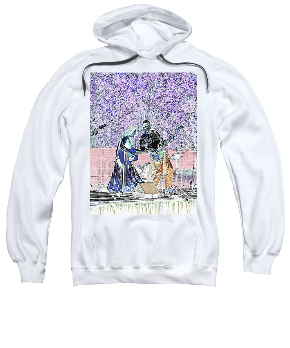 Guitars Sweatshirt featuring the photograph Performers On Stage by Marilyn Holkham