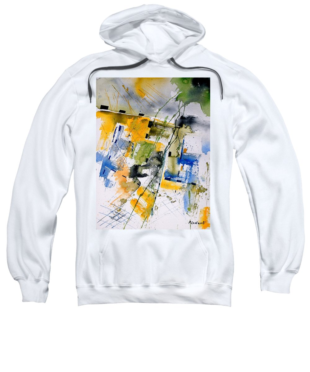 Abstract Sweatshirt featuring the painting Watercolor 161106 by Pol Ledent