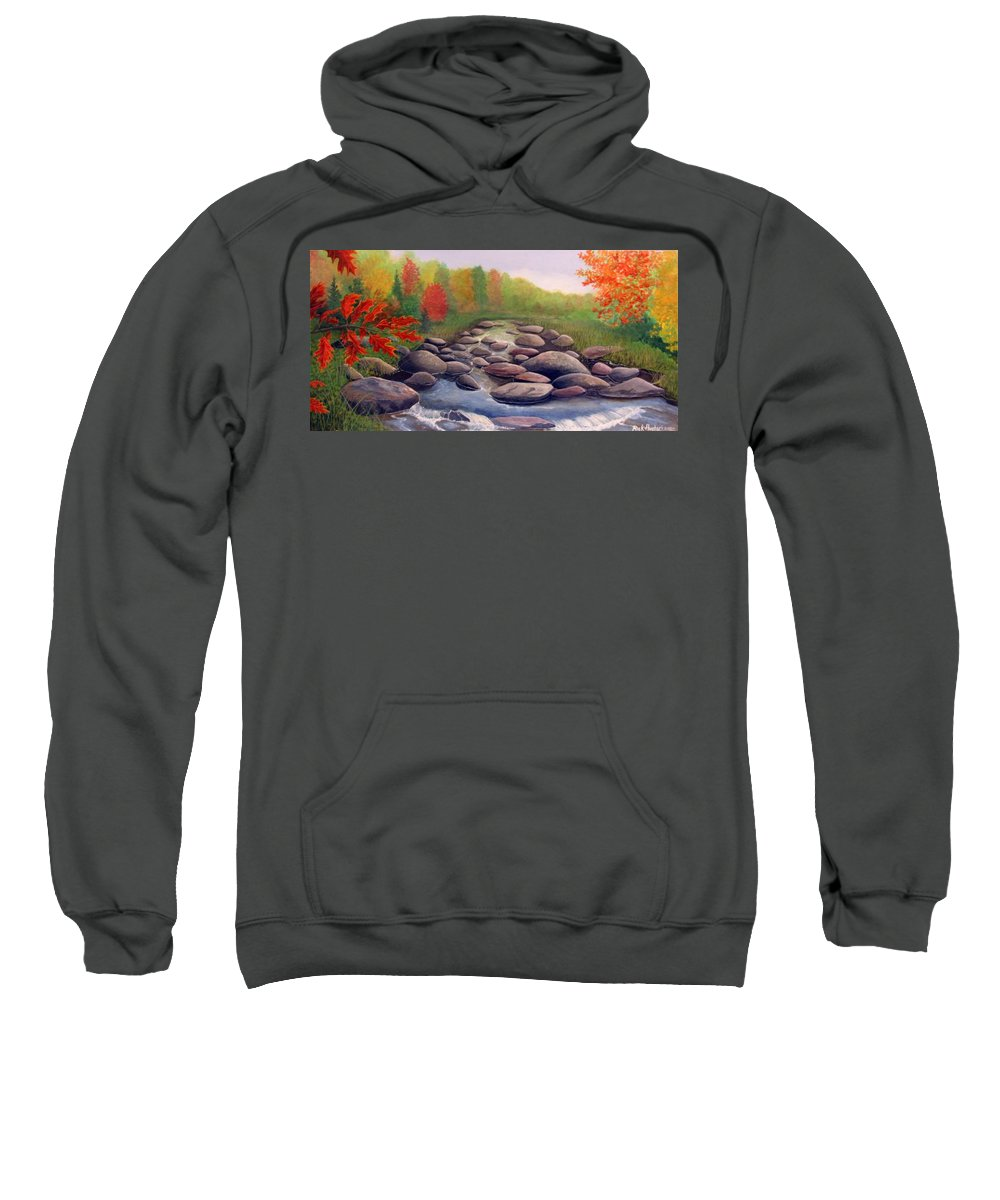 Rick Huotari Sweatshirt featuring the painting Cherokee Park by Rick Huotari