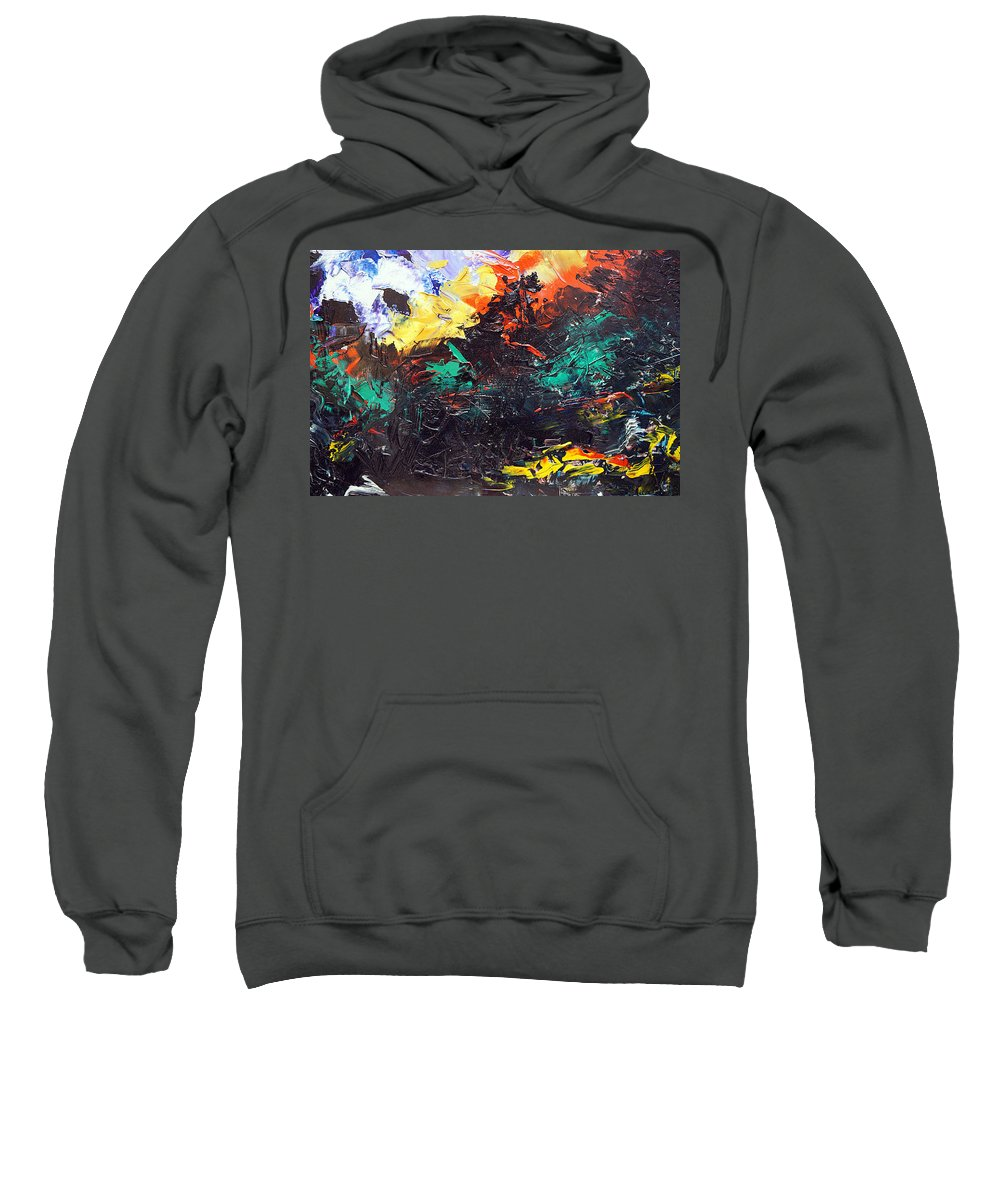 Vision Sweatshirt featuring the painting Schizophrenia by Sergey Bezhinets