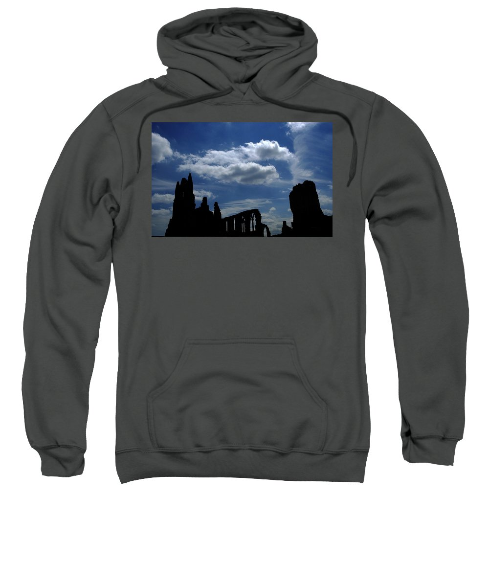 Abbey Sweatshirt featuring the photograph Abbey Skyline by Cliff Norton