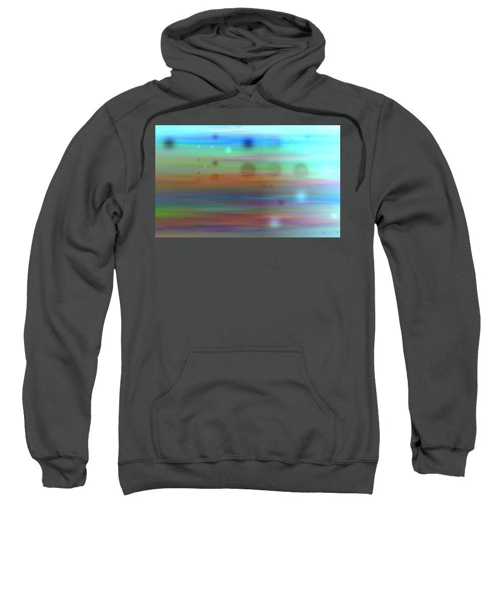 Art Digital Art Sweatshirt featuring the digital art Color26mlv - Impressions by Alex Porter
