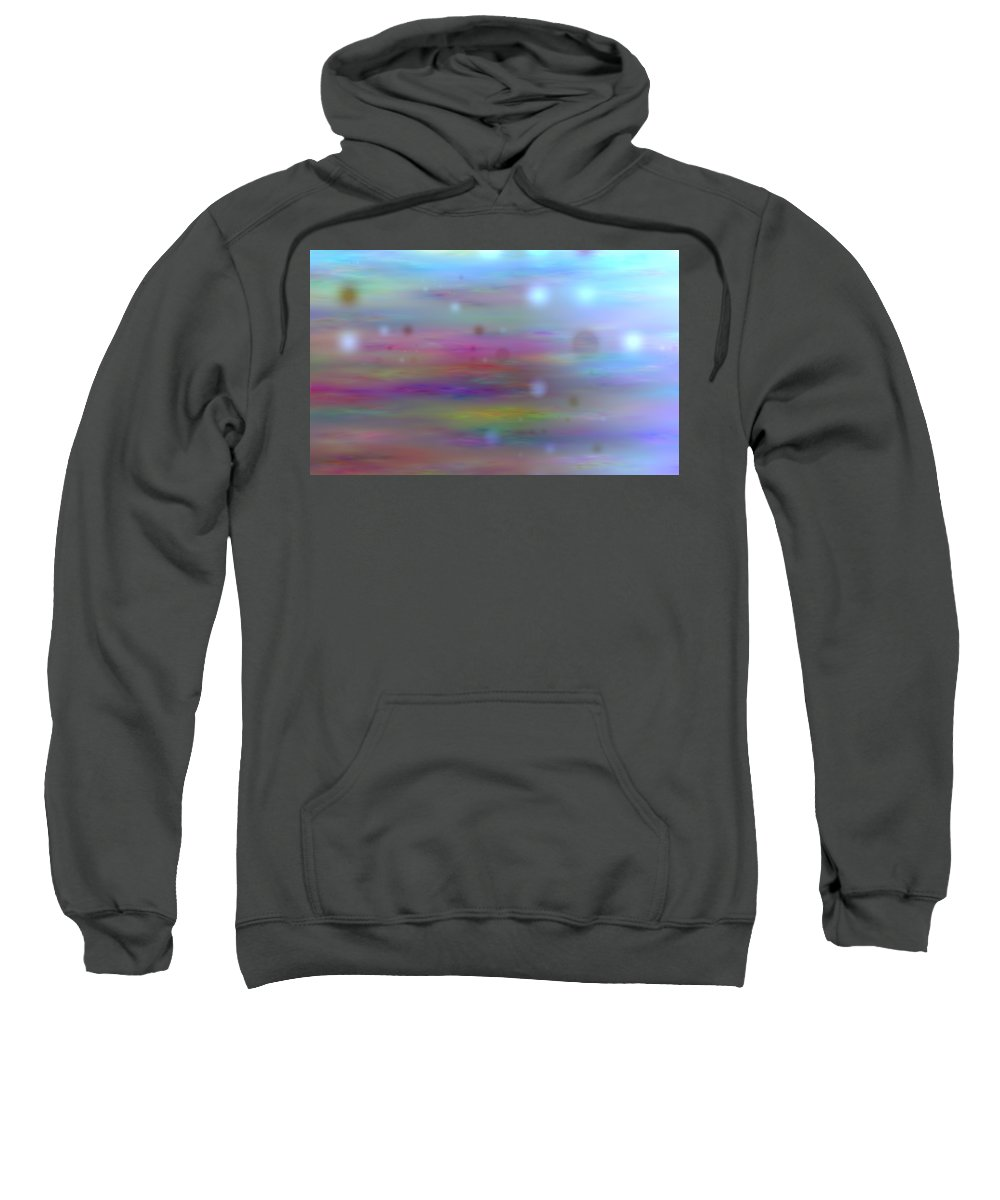 Art Digital Art Sweatshirt featuring the digital art Colour11mlv - Impressions by Alex Porter