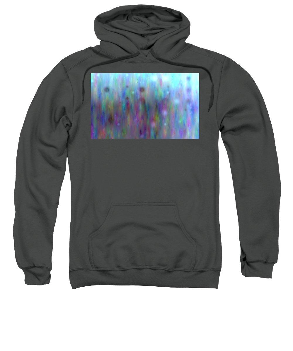 Art Digital Art Sweatshirt featuring the digital art Colour14mlv - Impressions by Alex Porter