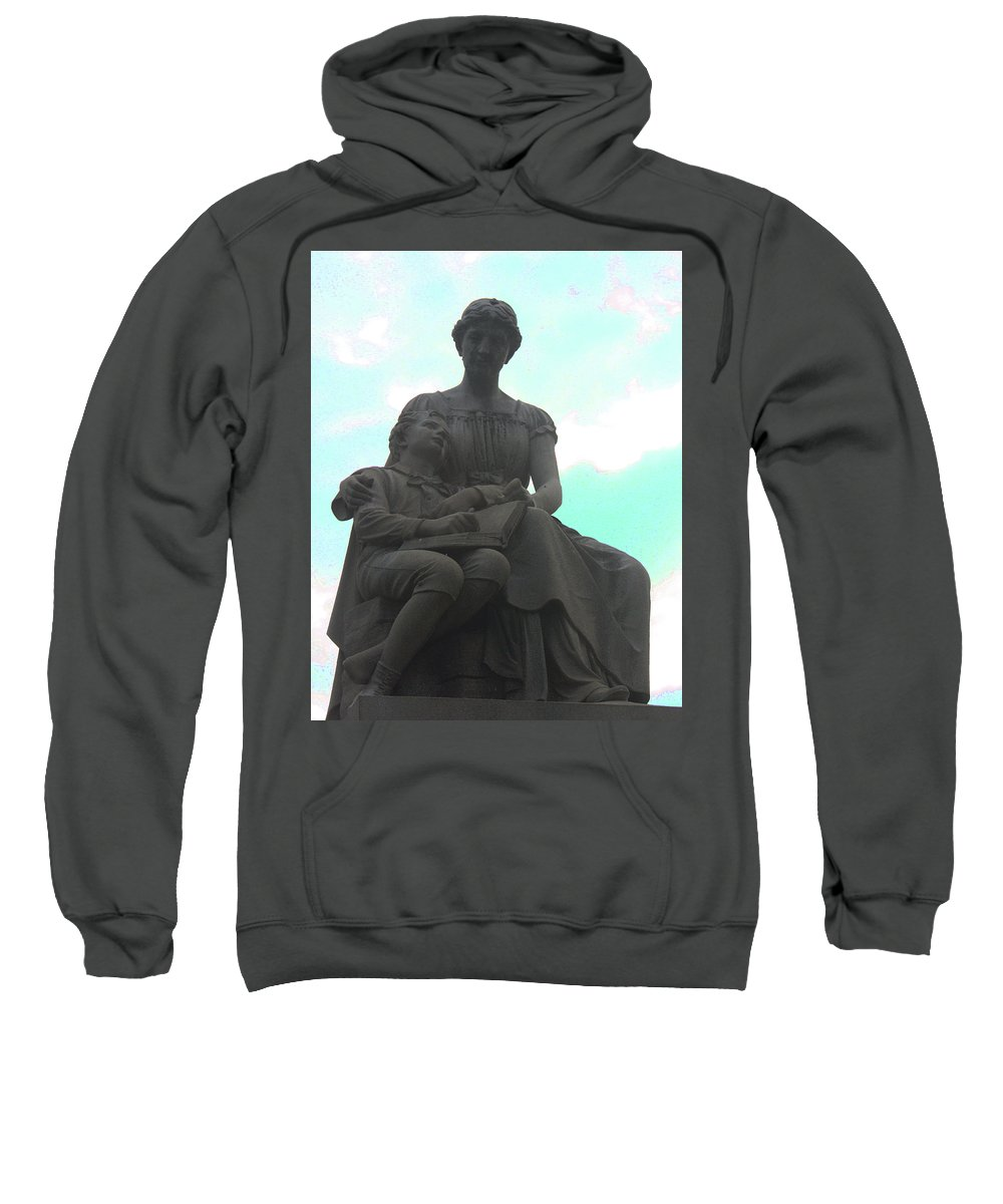 Statue Sweatshirt featuring the photograph Read Me A Story by Erin Rosenblum
