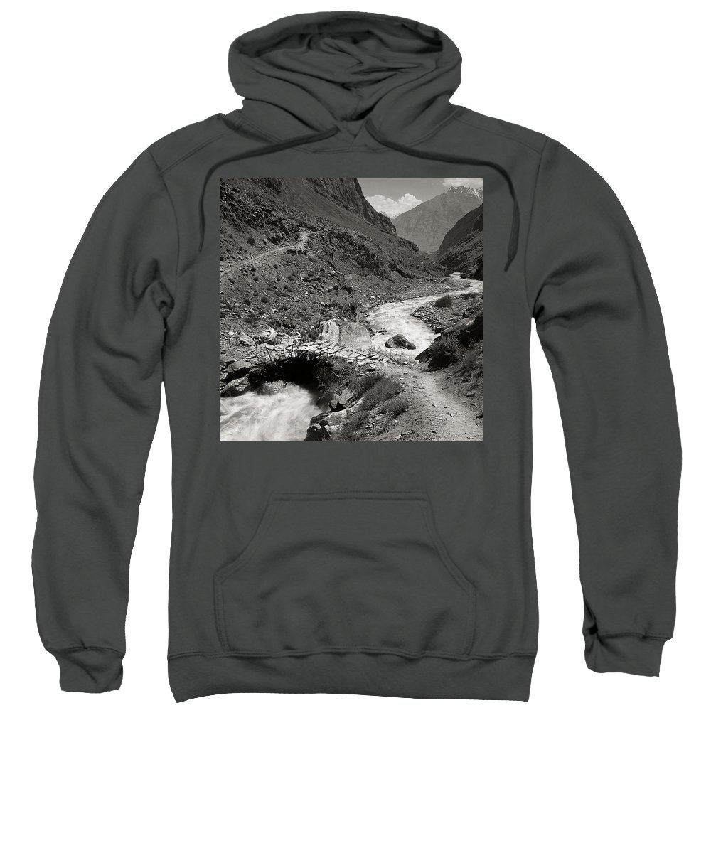 Active Sweatshirt featuring the photograph The Crossing by Konstantin Dikovsky