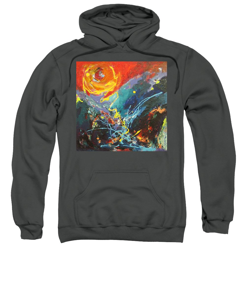 Abstract Paintings Sweatshirt featuring the painting The Narrows by Seon-Jeong Kim