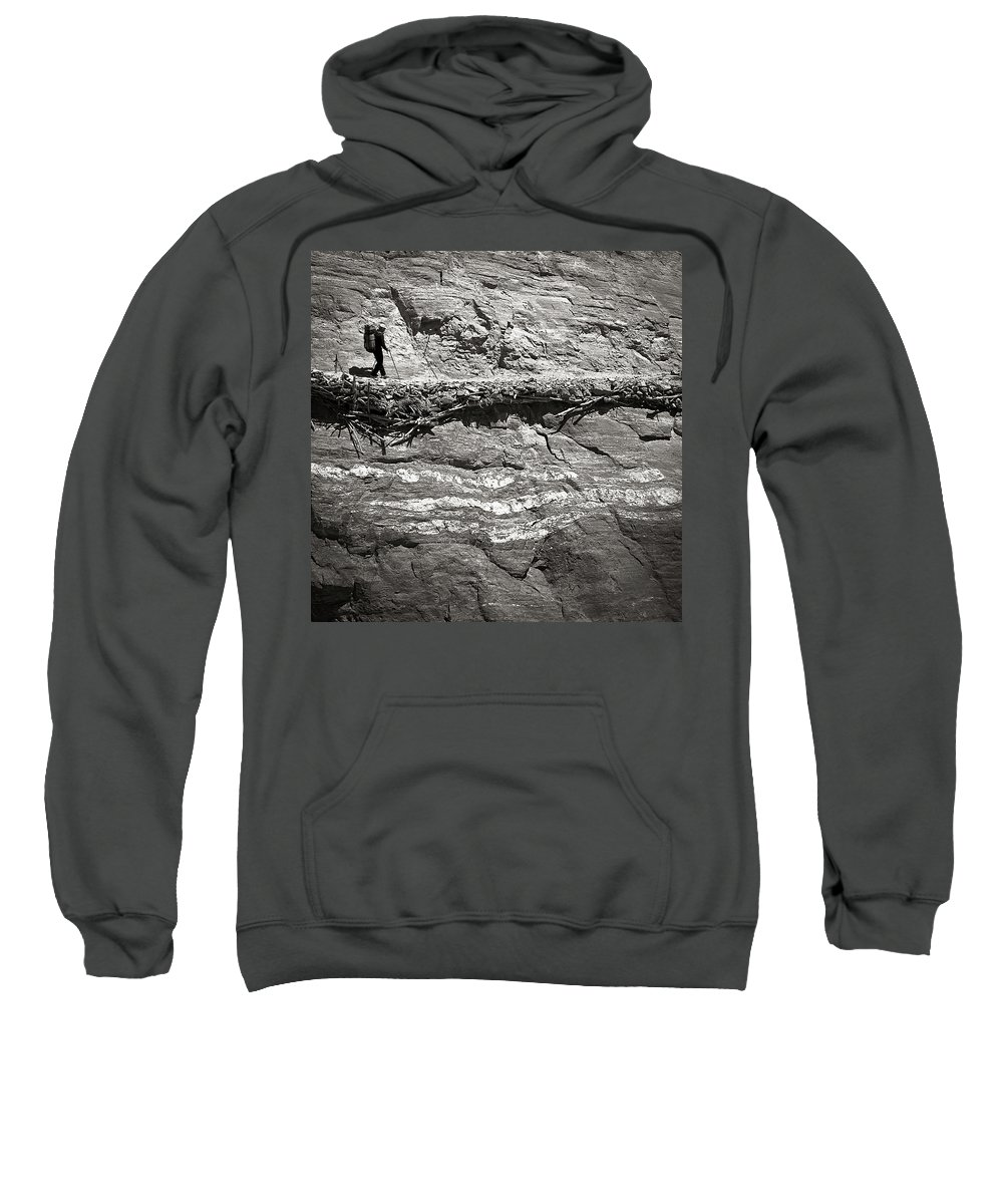 Alone Sweatshirt featuring the photograph The Path by Konstantin Dikovsky