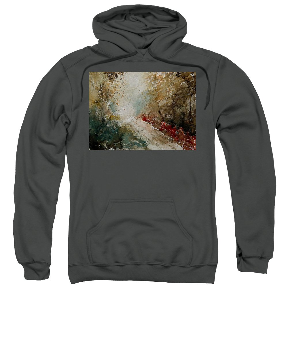 Tree Sweatshirt featuring the painting Watercolor 311005 by Pol Ledent
