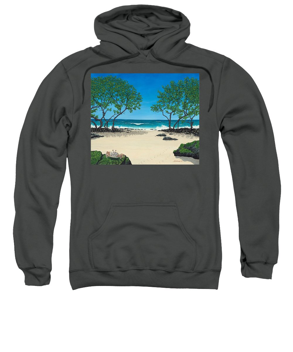 Ocean Sweatshirt featuring the painting Where Is My Corona by Shawn Stallings
