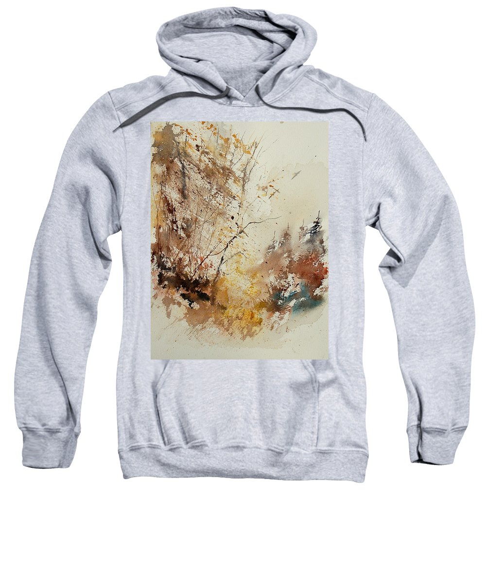 Tree Sweatshirt featuring the painting Watercolor 903012 by Pol Ledent