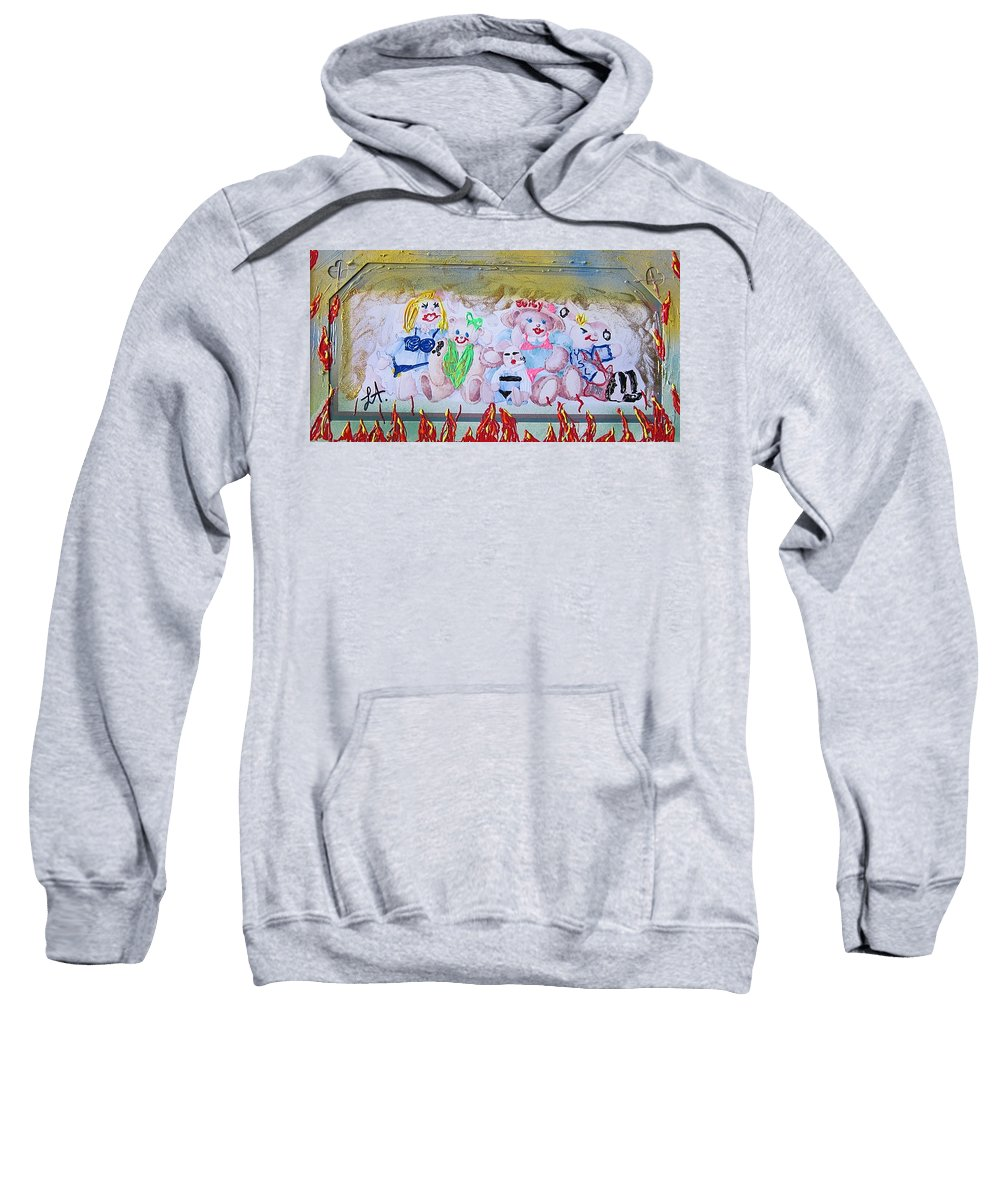 Adult Sweatshirt featuring the painting Bad Bears by Lisa Piper