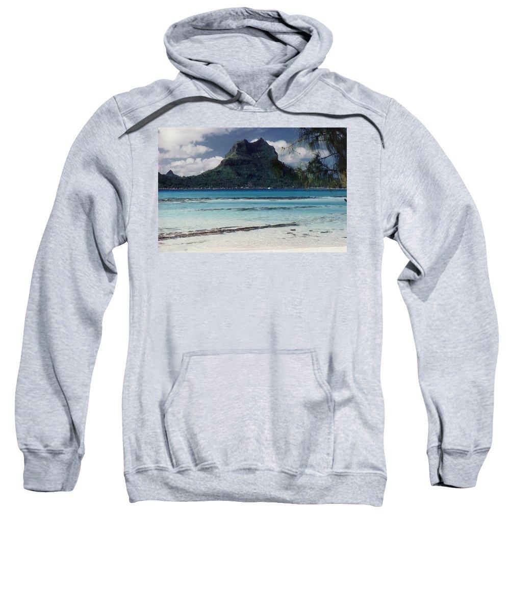 Charity Sweatshirt featuring the photograph Bora Bora by Mary-Lee Sanders