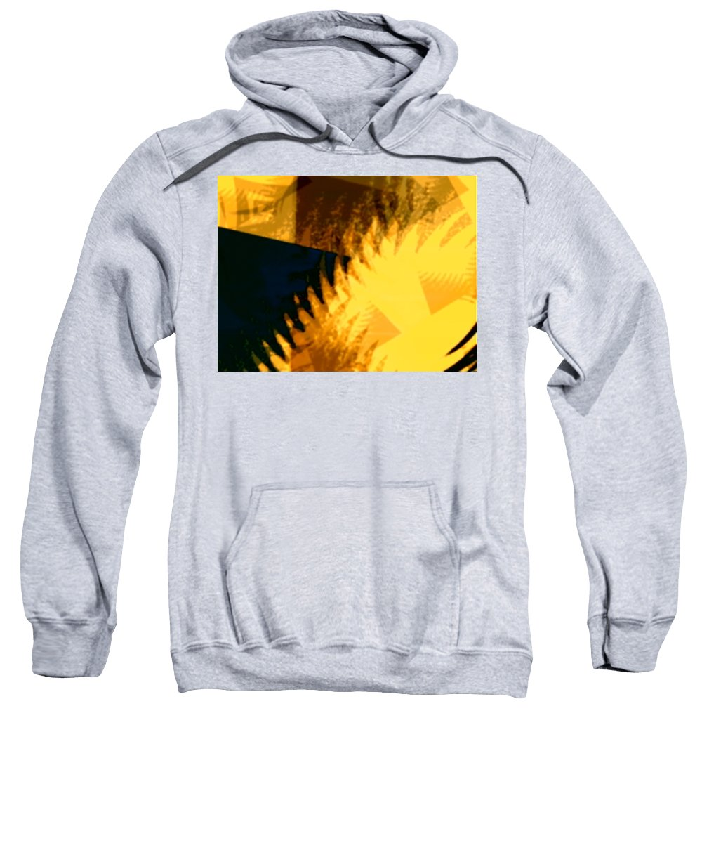 Art Digital Art Sweatshirt featuring the digital art Change - Leaf12 by Alex Porter
