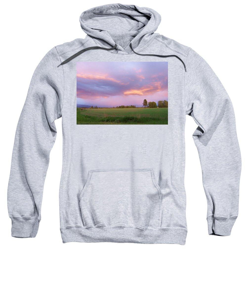 Landscape Sweatshirt featuring the photograph Montana Sunsets 3 by Deahn   Benware