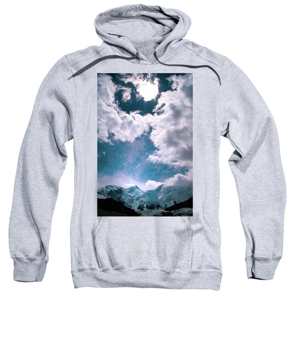 Alone Sweatshirt featuring the photograph Sacred Belukha by Konstantin Dikovsky