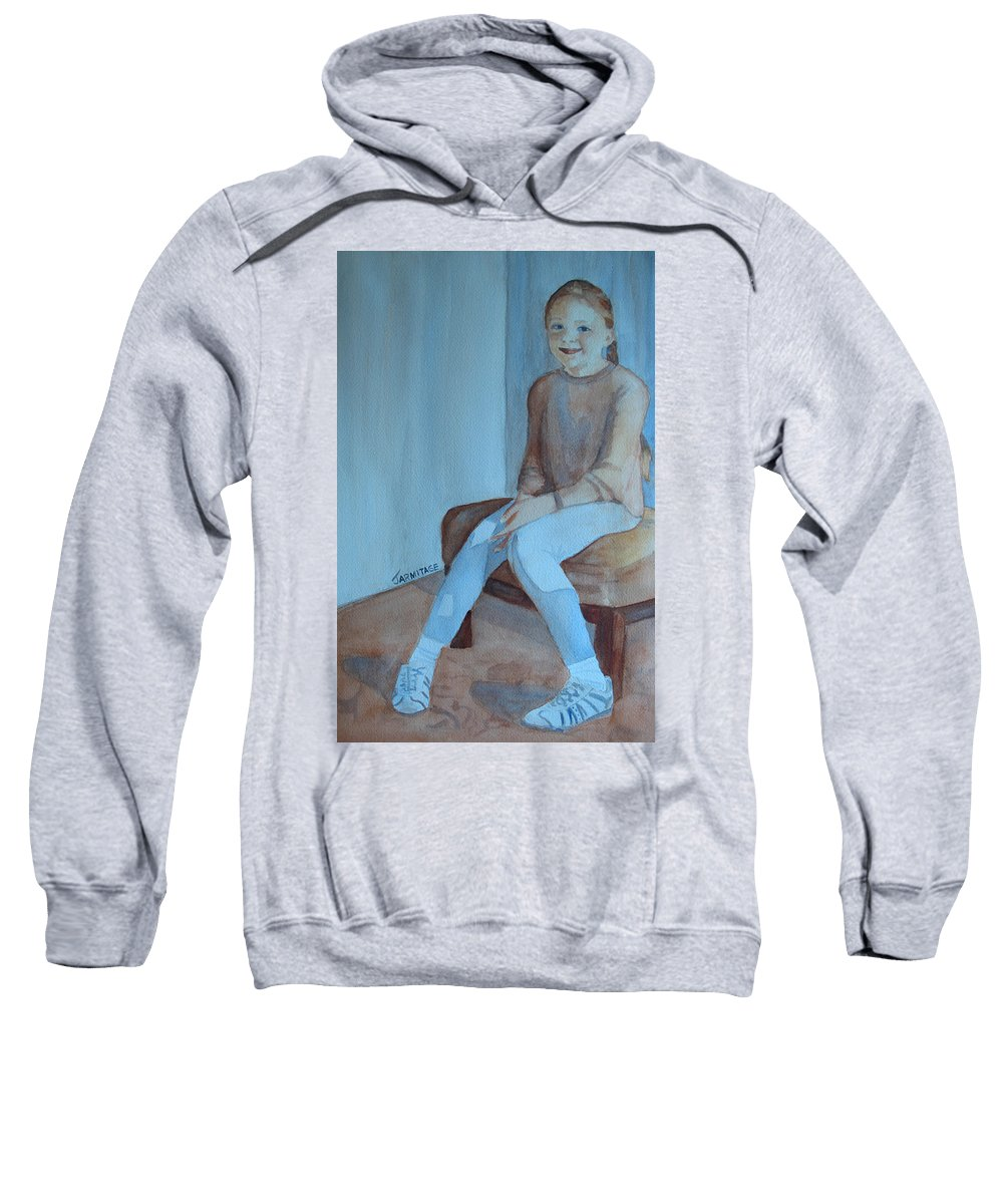 Girl Sweatshirt featuring the painting Sneakers II by Jenny Armitage