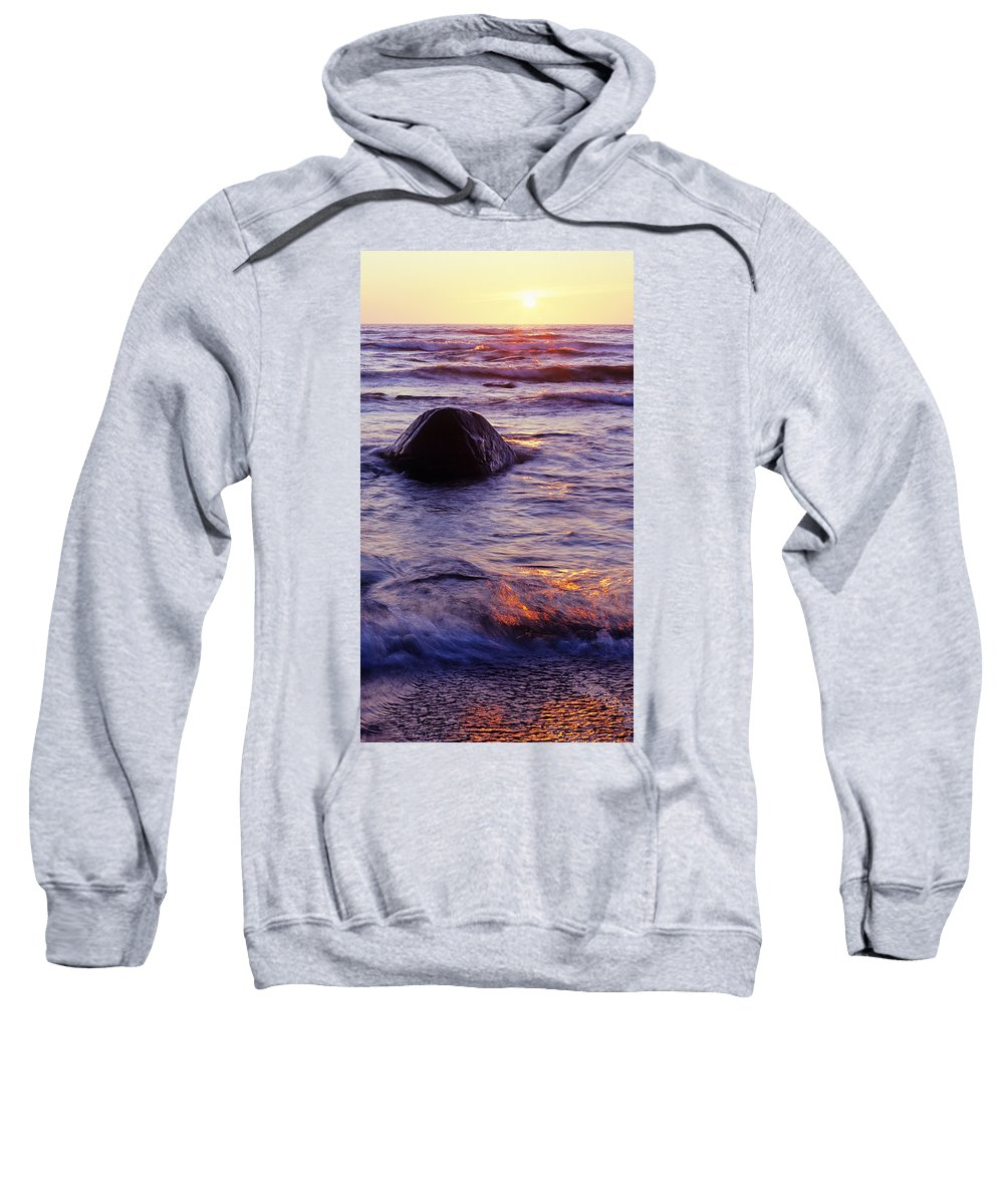 Abstract Sweatshirt featuring the photograph Sunset Lights by Konstantin Dikovsky