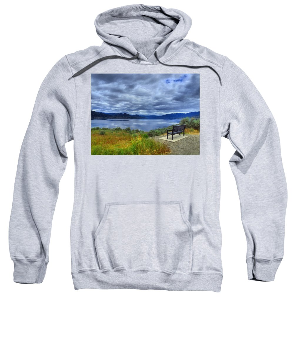 Bench Sweatshirt featuring the photograph View From A Bench by Tara Turner