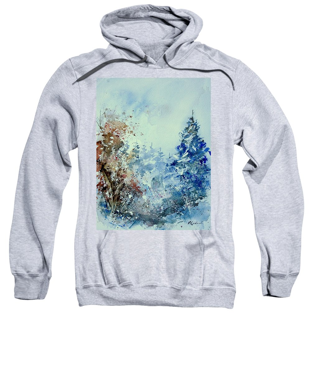 Tree Sweatshirt featuring the painting Watercolor 010307 by Pol Ledent