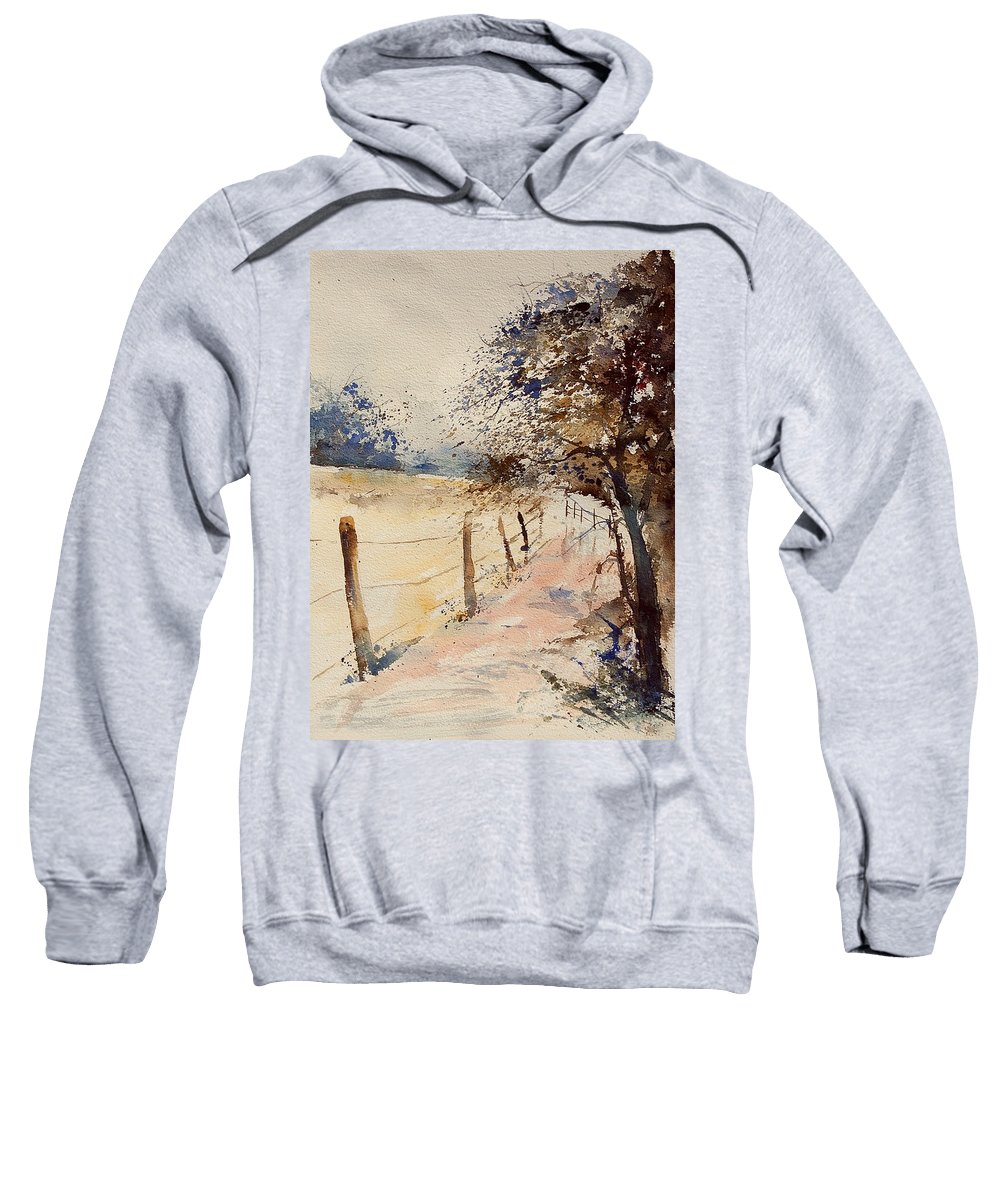 Tree Sweatshirt featuring the painting Watercolor 041106 by Pol Ledent