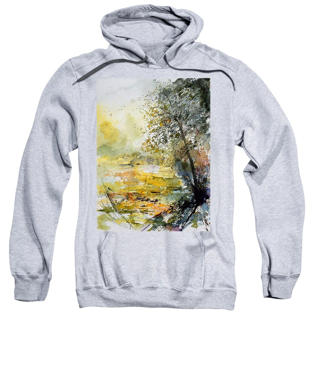 Water Sweatshirt featuring the painting Watercolor 050906 by Pol Ledent