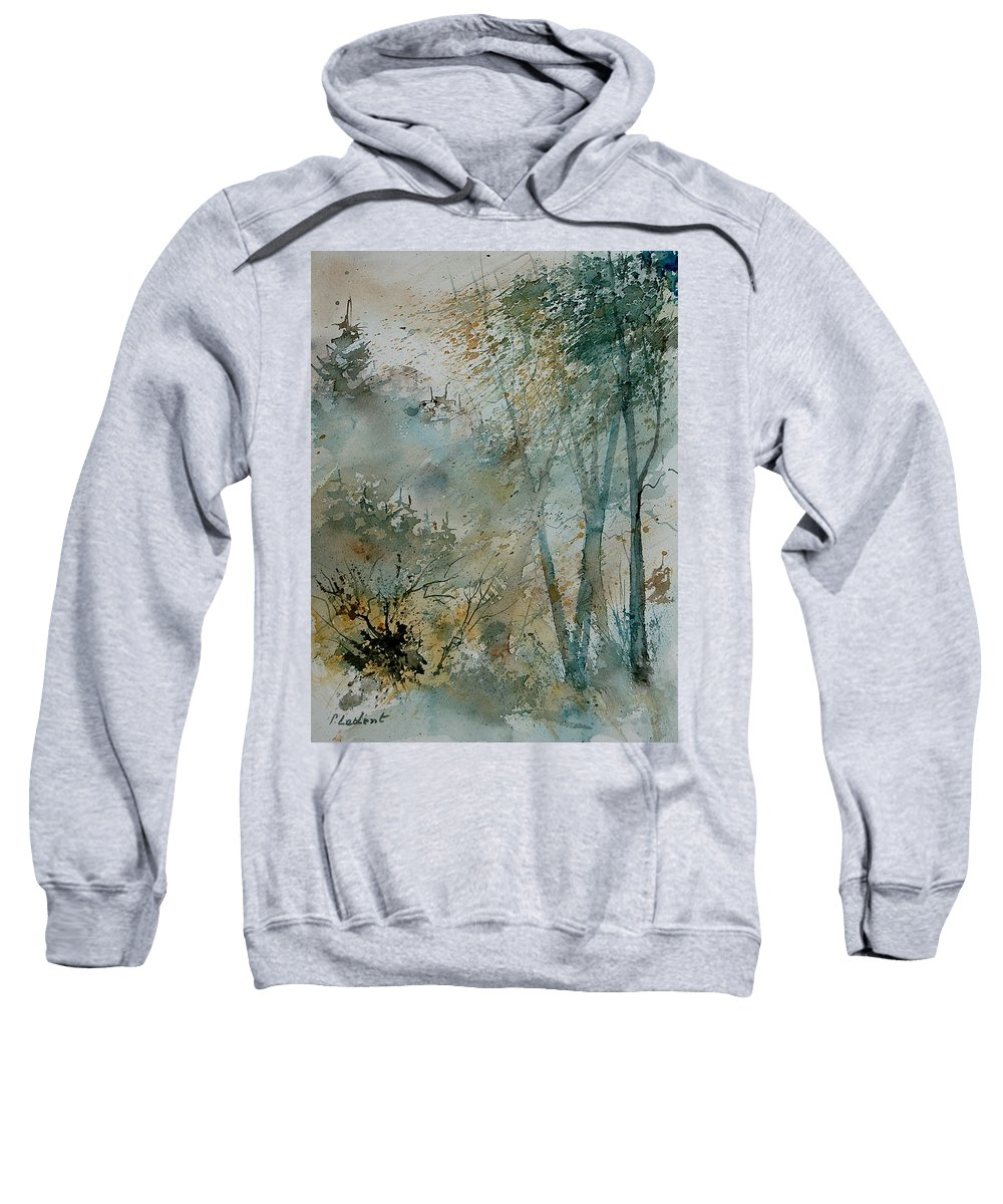 Tree Sweatshirt featuring the painting Watercolor 051008 by Pol Ledent