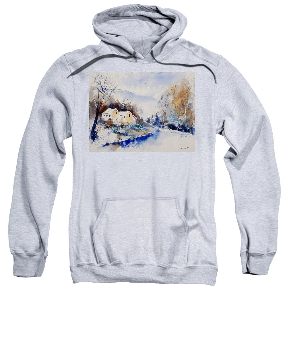 Winter Sweatshirt featuring the painting Watercolor 080408 by Pol Ledent