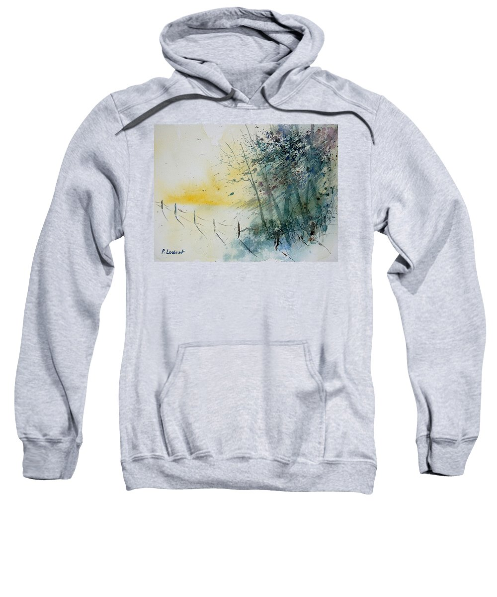 Winter Sweatshirt featuring the painting Watercolor 080708 by Pol Ledent