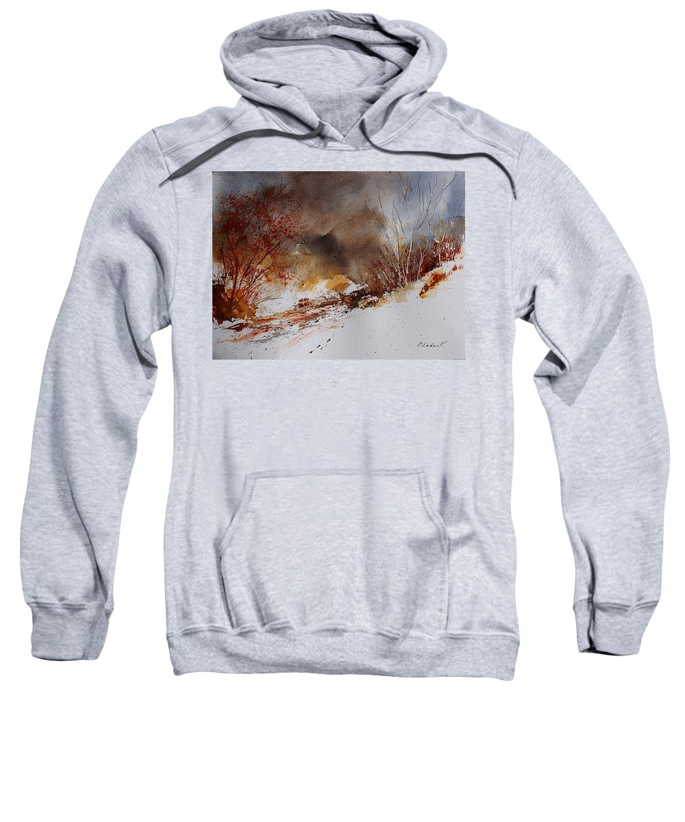 Winter Sweatshirt featuring the painting Watercolor 100508 by Pol Ledent