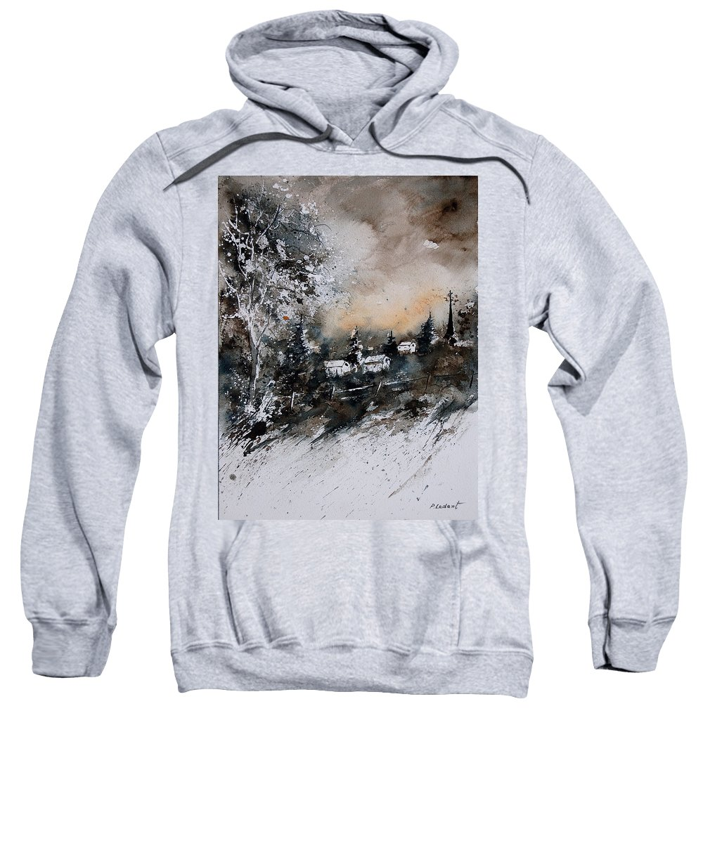 Winter Sweatshirt featuring the painting Watercolor 121206 by Pol Ledent