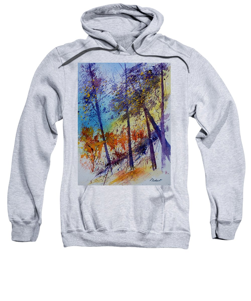 Spring Sweatshirt featuring the painting Watercolor 131108 by Pol Ledent