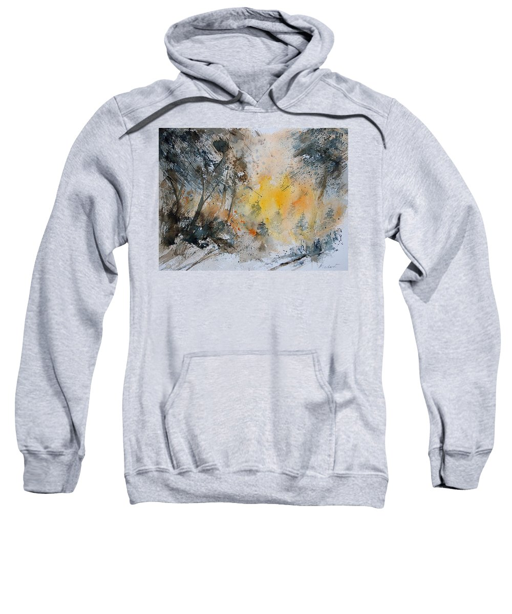 Tree Sweatshirt featuring the painting Watercolor 131206 by Pol Ledent