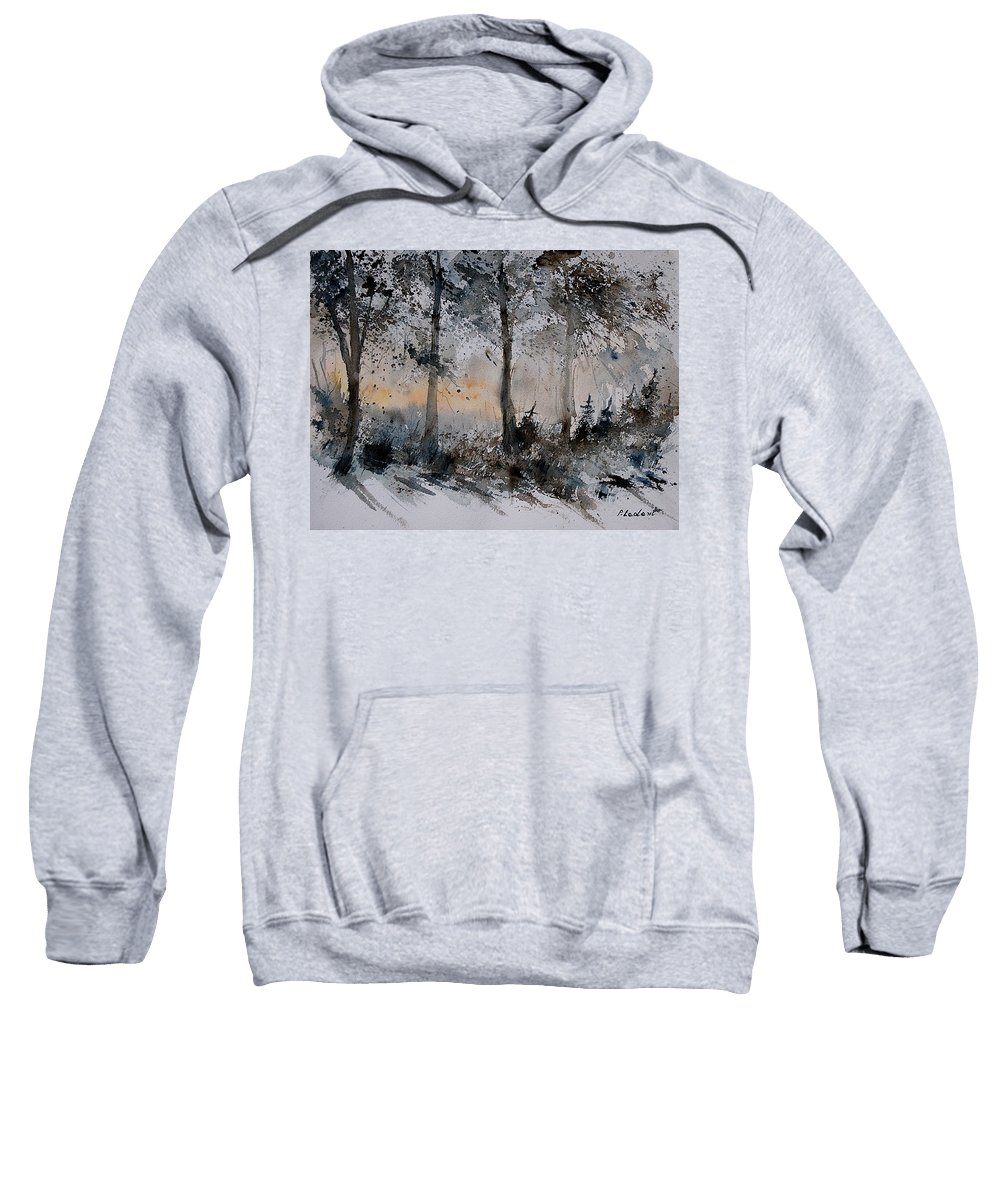 Tree Sweatshirt featuring the painting Watercolor 141206 by Pol Ledent