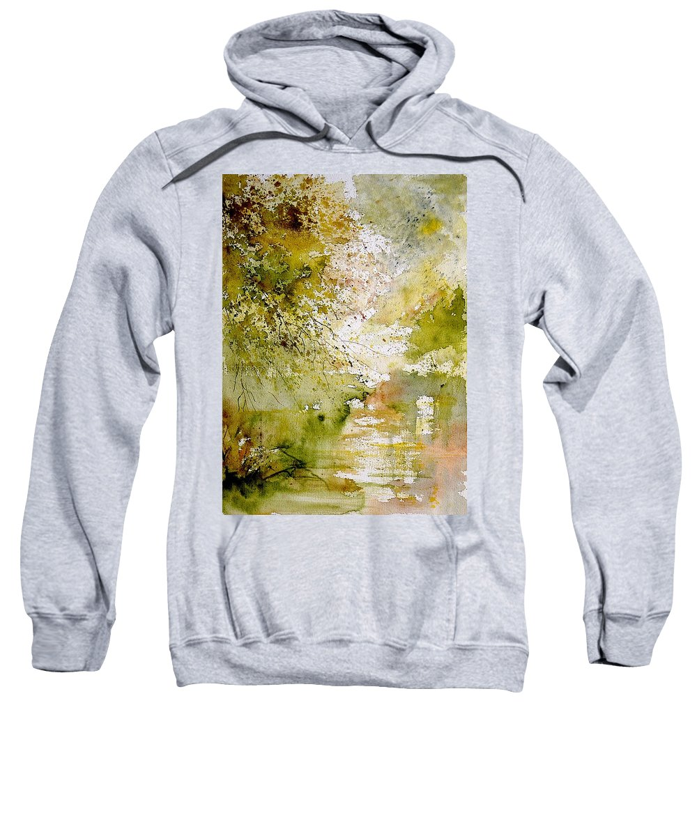 Water Sweatshirt featuring the painting Watercolor 211005 by Pol Ledent