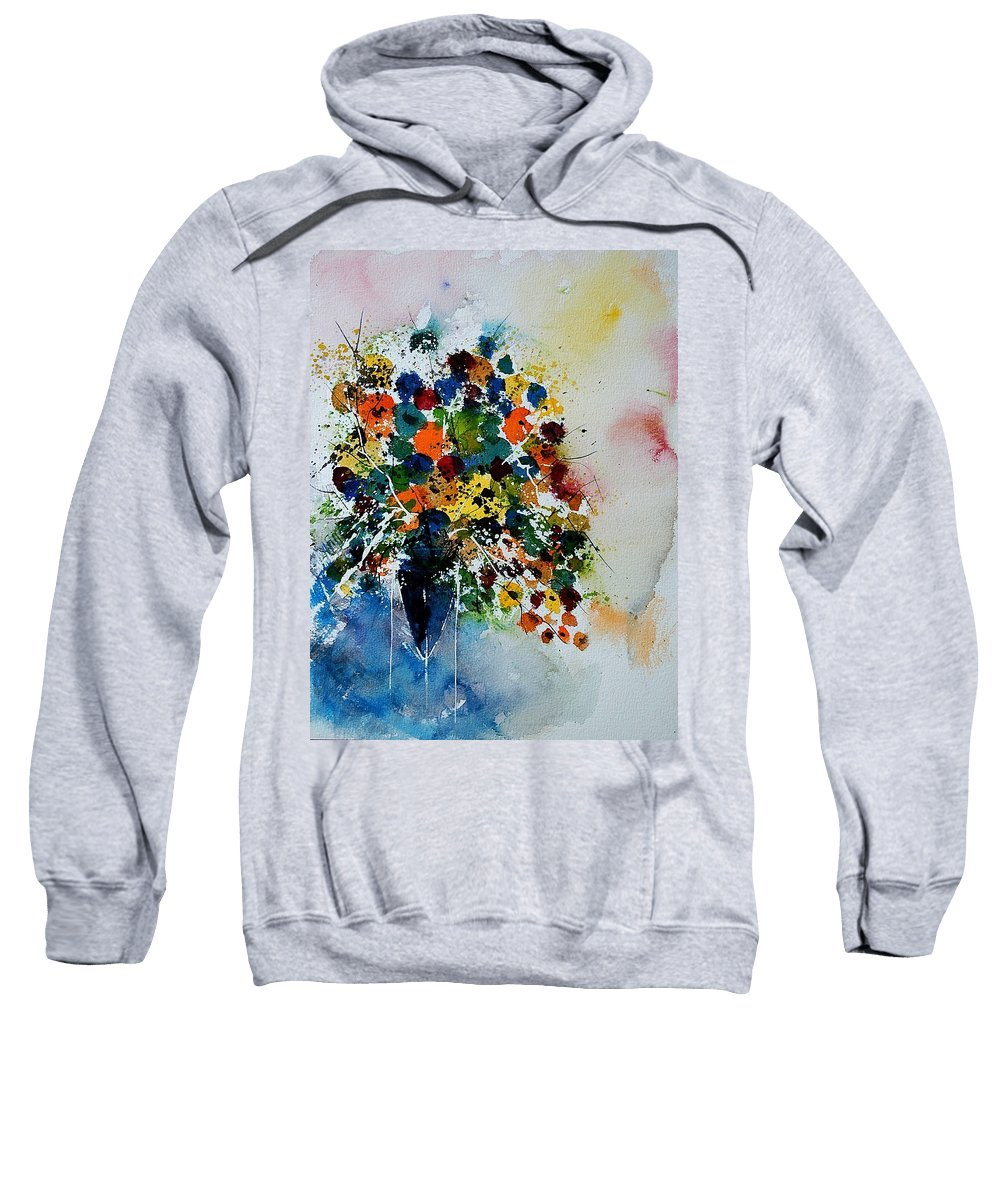 Flowers Sweatshirt featuring the painting Watercolor 220407 by Pol Ledent
