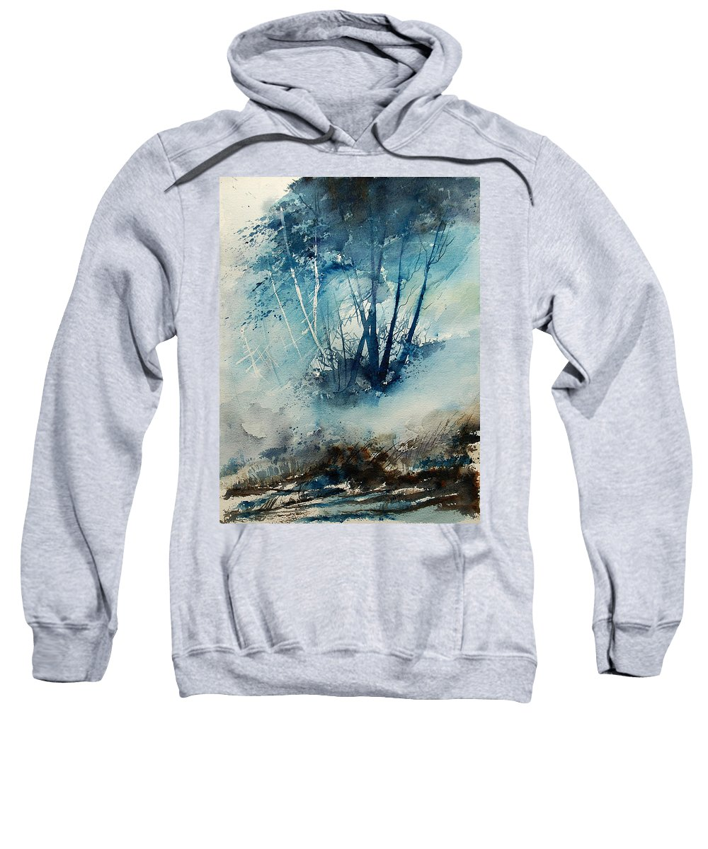 Tree Sweatshirt featuring the painting Watercolor 230907 by Pol Ledent