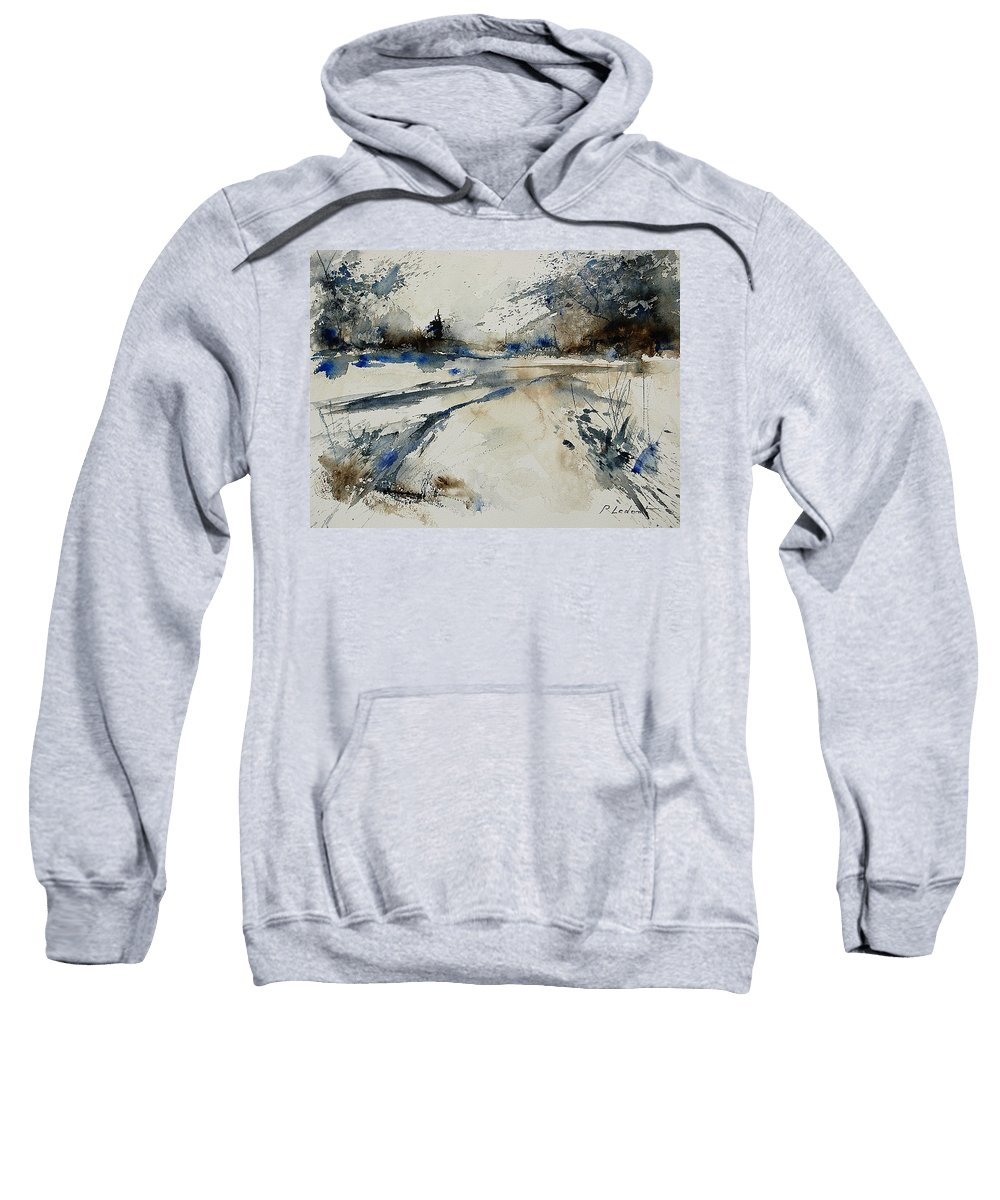 Winter Sweatshirt featuring the painting Watercolor 240906 by Pol Ledent