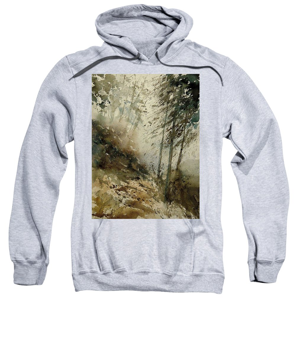 Tree Sweatshirt featuring the painting Watercolor 271005 by Pol Ledent