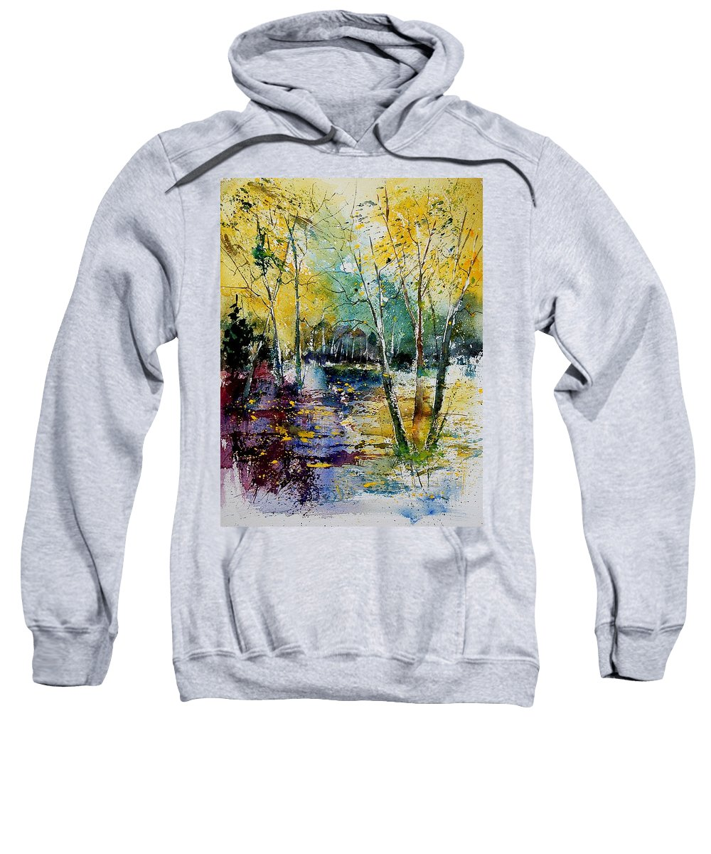 Water Sweatshirt featuring the painting Watercolor 280808 by Pol Ledent