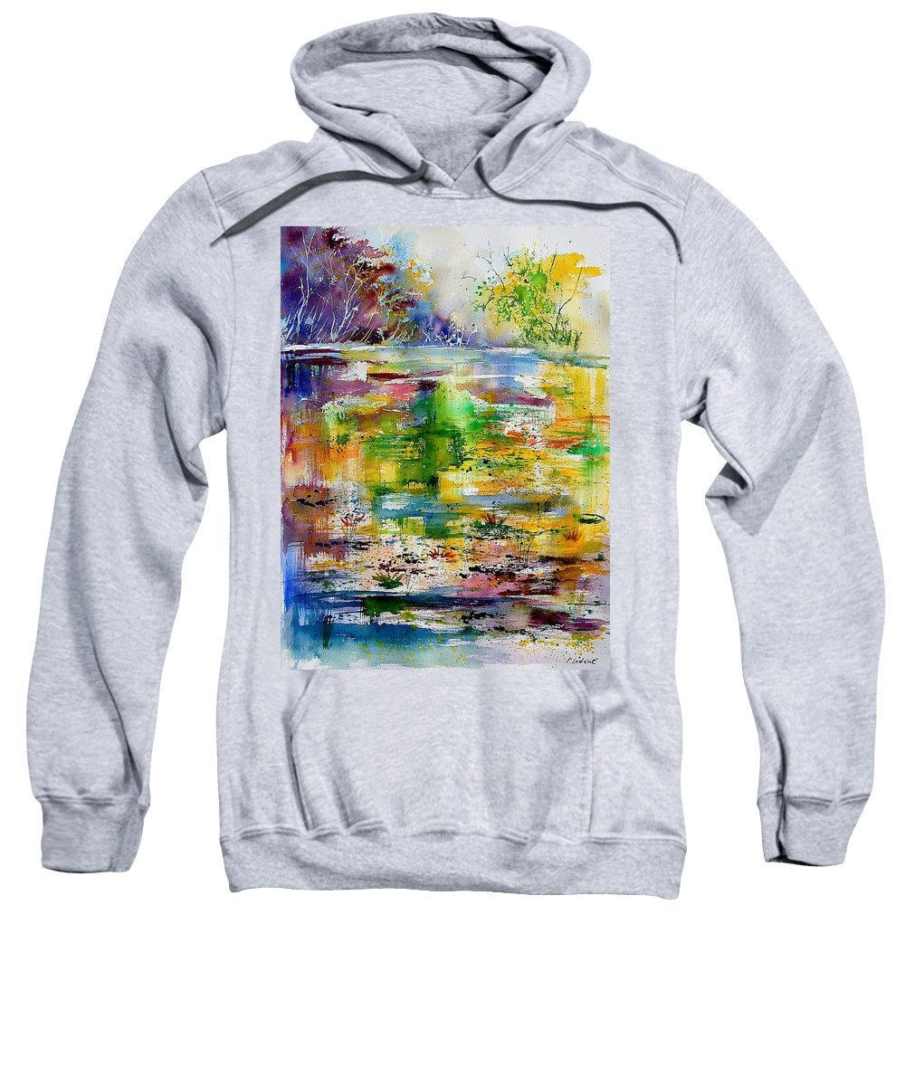 Water Sweatshirt featuring the painting Watercolor 6878 by Pol Ledent