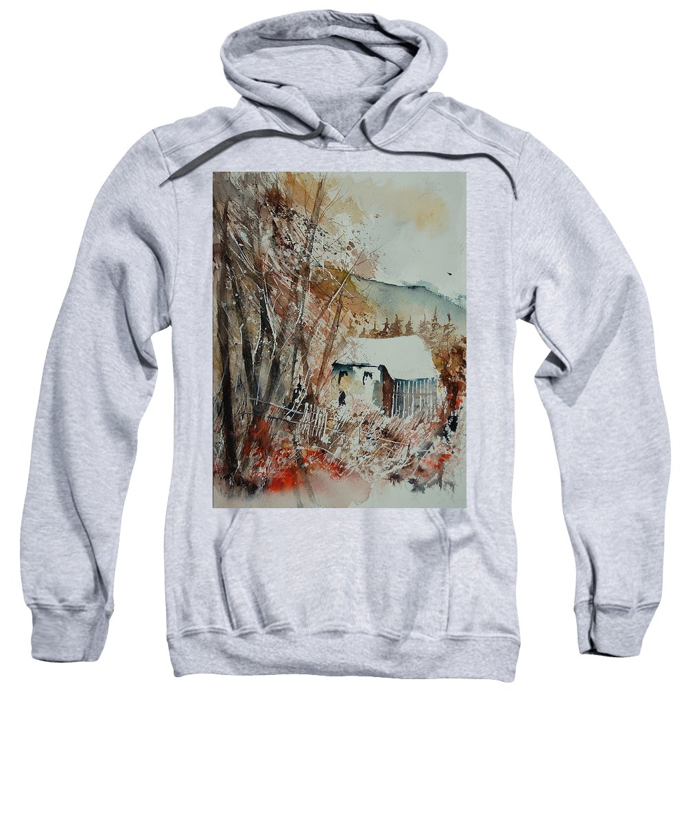 Tree Sweatshirt featuring the painting Watercolor 902001 by Pol Ledent