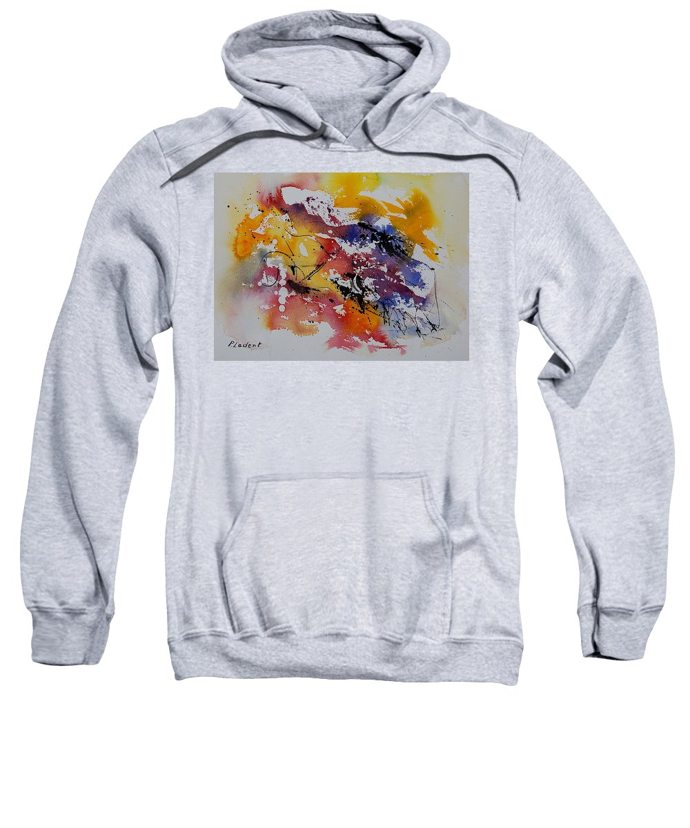 Abstract Sweatshirt featuring the painting Watercolor 902022 by Pol Ledent